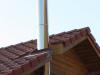 Maison Ossature Bois - Conduit de fumée en inox